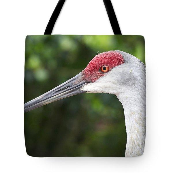 Sandhill Crane Face Tote Bag