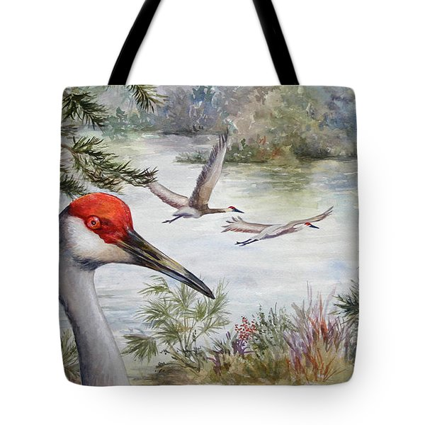 Sandhill View Tote Bag