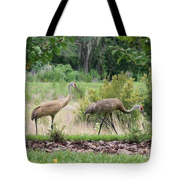 Sandhills Through The Crepe Myrtles Tote Bag