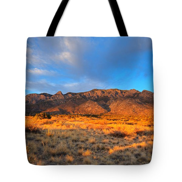 Sandia Crest Sunset Tote Bag