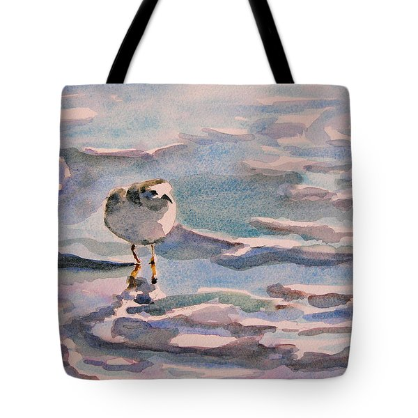 Sandpiper And Seafoam 3-8-15 Tote Bag