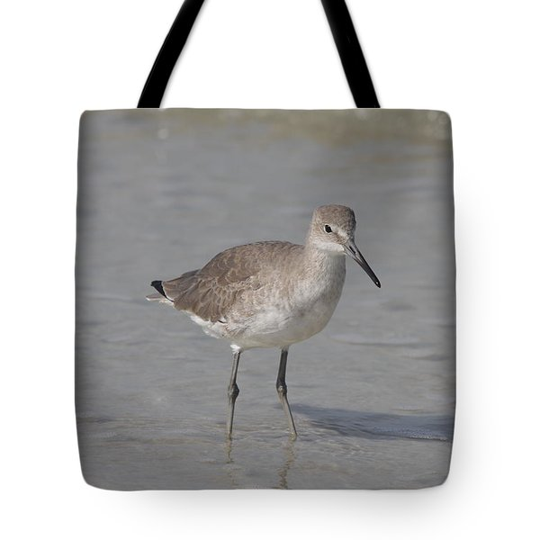 Tote Bag featuring the photograph Sandpiper by Christiane Schulze Art And Photography
