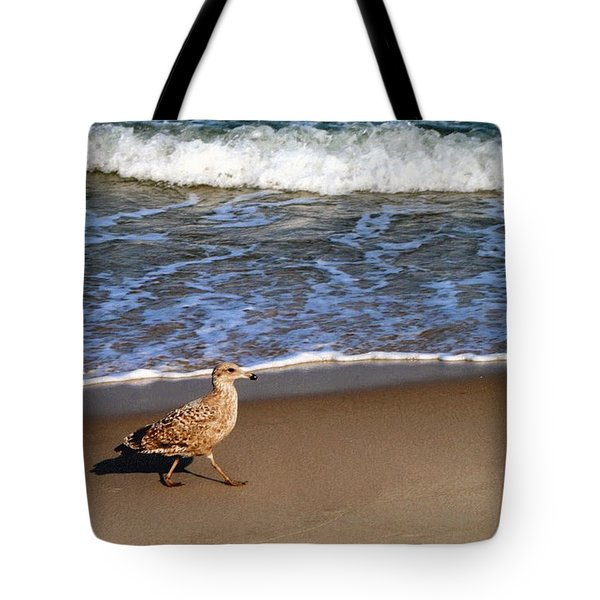 Sandpiper At Ortley Beach, Nj Tote Bag