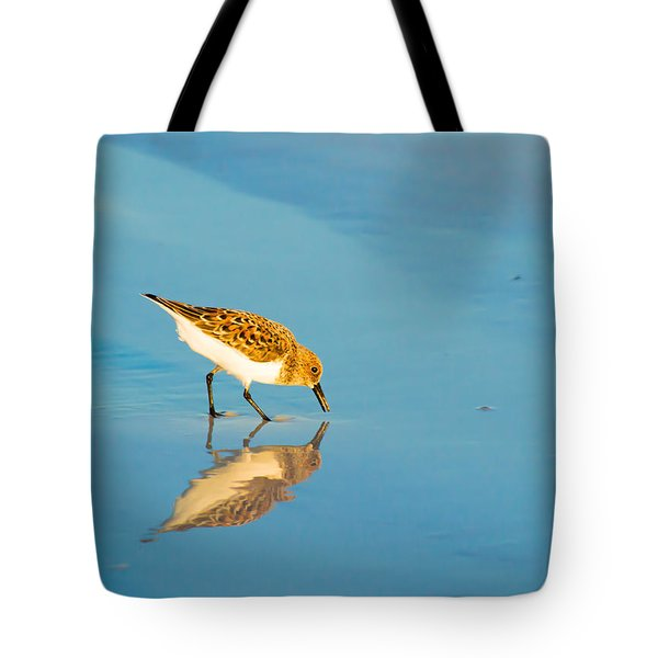 Sandpiper Mirror Tote Bag by Susan Molnar