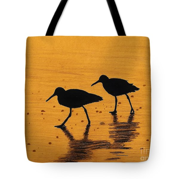 Sandpipers - At - Sunrise Tote Bag