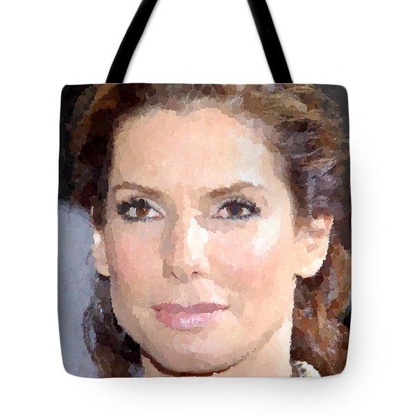 Sandra Bullock Portrait Tote Bag