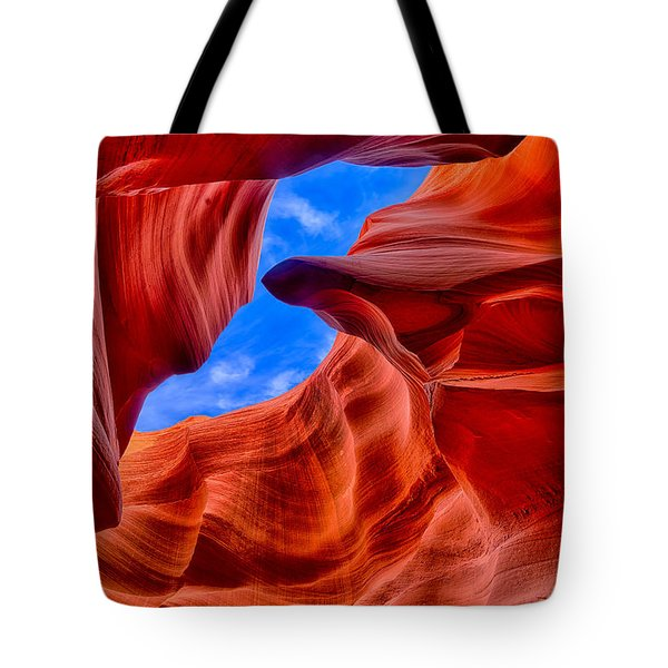 Sandstone Curves In Antelope Canyon Tote Bag