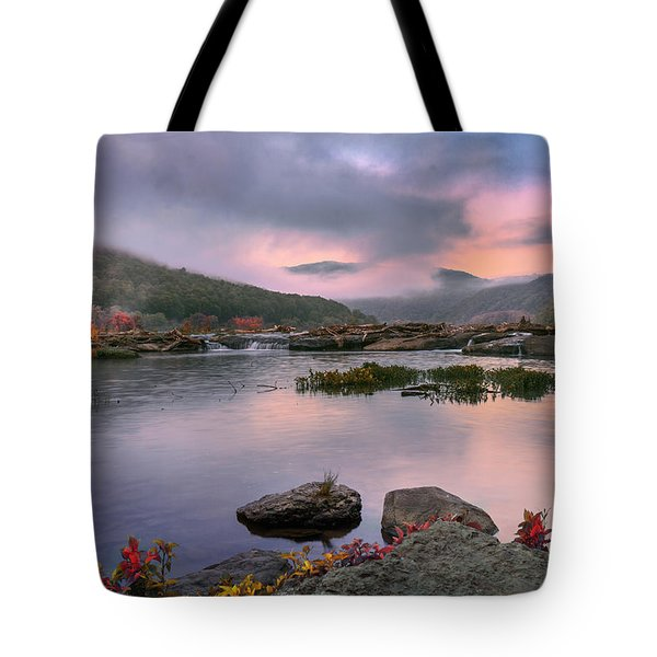 Sandstone Falls At Dawn Tote Bag