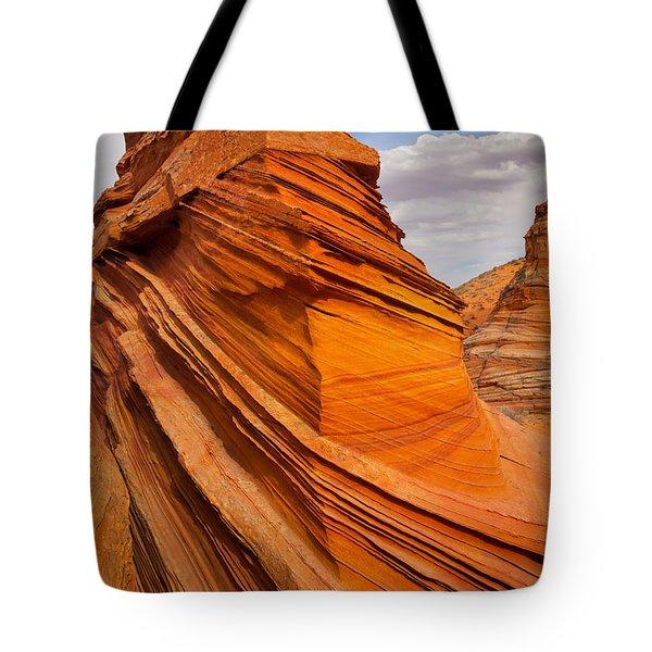 Sandstone Flatiron Tote Bag by Inge Johnsson