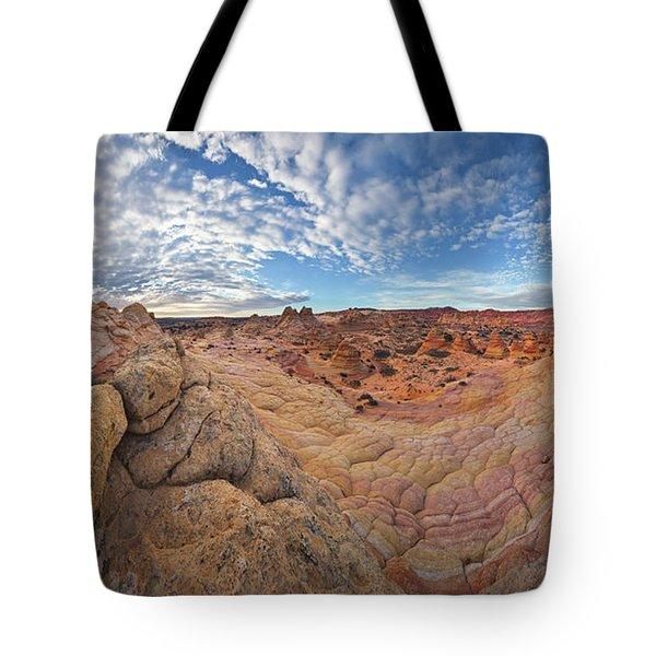 360 View Of Vermillion Cliffs  Tote Bag