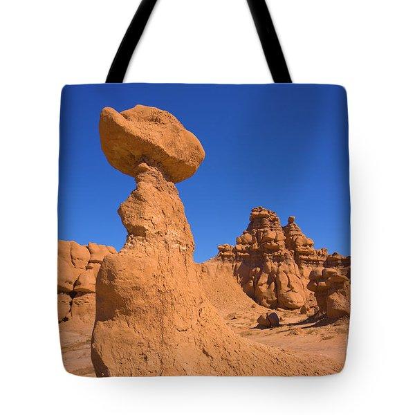 Sandstone Hoodoos In Goblin Valley  Tote Bag