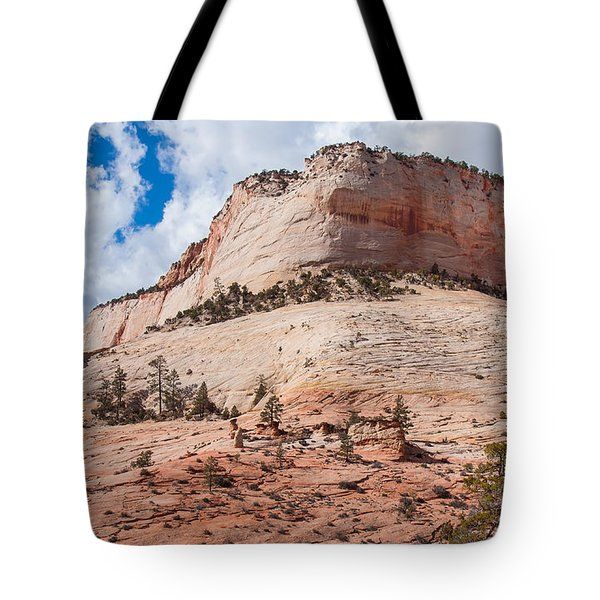 Tote Bag featuring the photograph Sandstone Mountain by John M Bailey