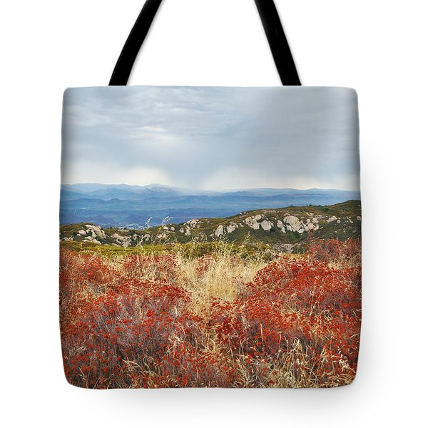 Sandstone Peak Fall Landscape Tote Bag