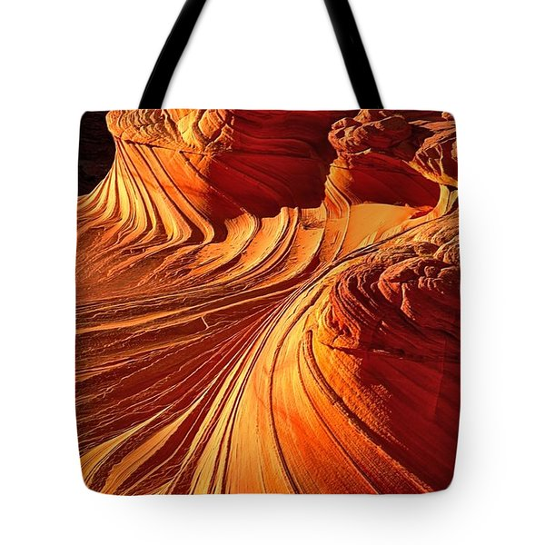 Sandstone Silhouette Tote Bag by Adam Jewell