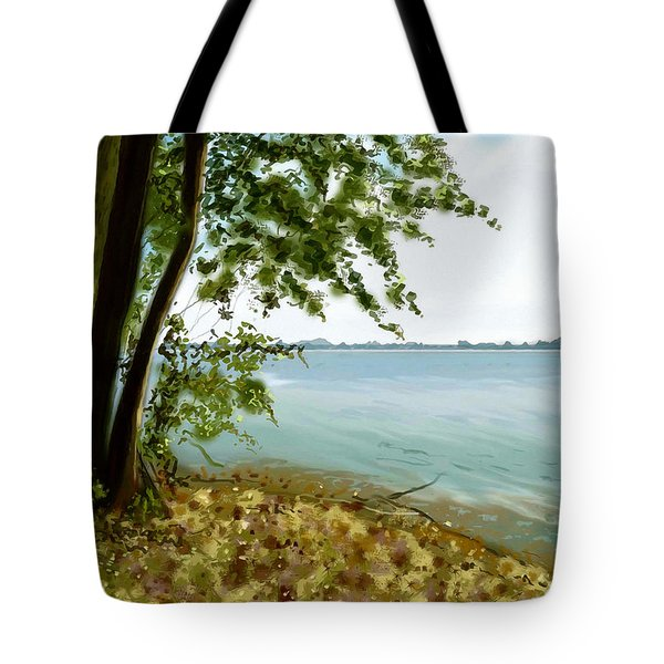 Tote Bag featuring the painting Sandusky Bay by Shawna Rowe