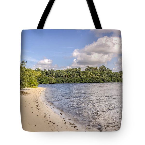 Tote Bag featuring the photograph Sandy Beach by Jane Luxton