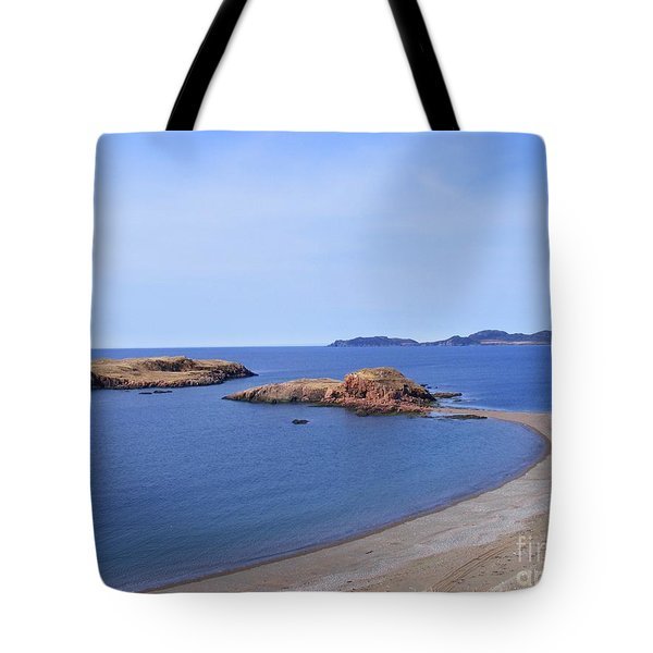 Sandy Beach - Little Island - Coastline - Seascape  Tote Bag by Barbara Griffin