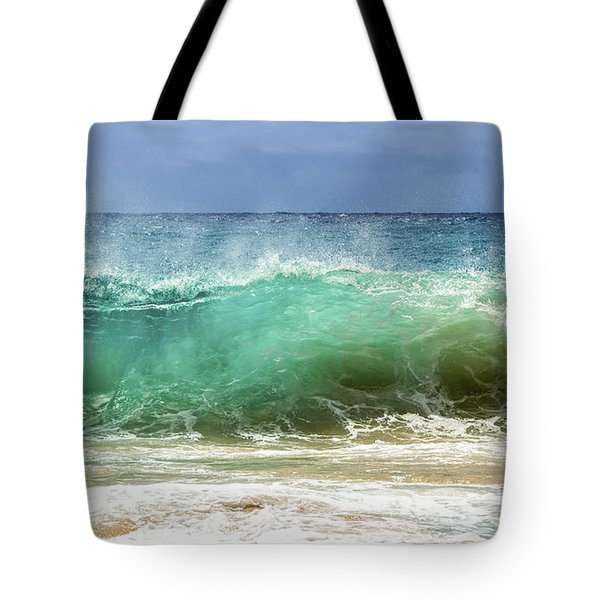 Sandy Beach Shorebreak 1 Tote Bag by Leigh Anne Meeks