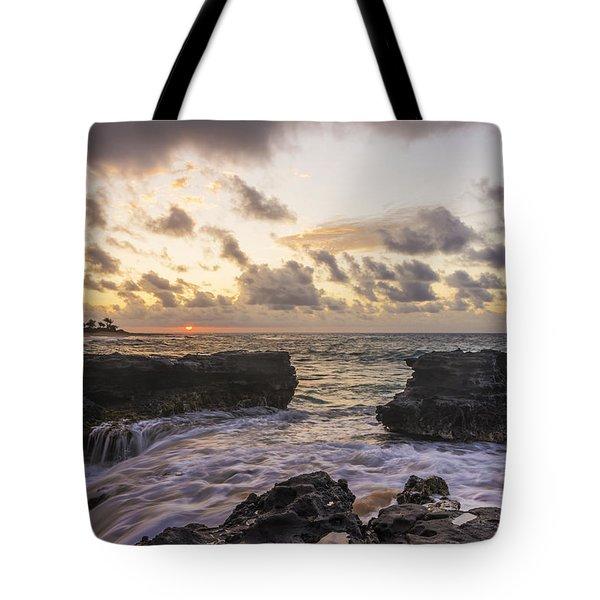 Sandy Beach Sunrise 1 - Oahu Hawaii Tote Bag by Brian Harig