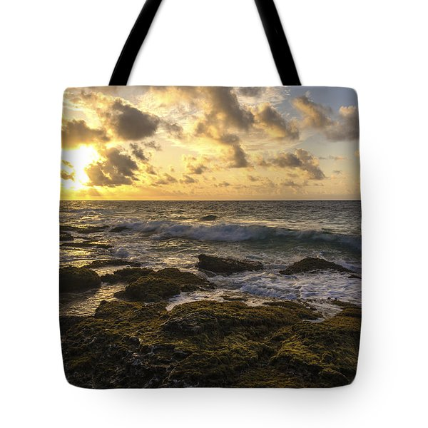 Sandy Beach Sunrise 11 - Oahu Hawaii Tote Bag by Brian Harig