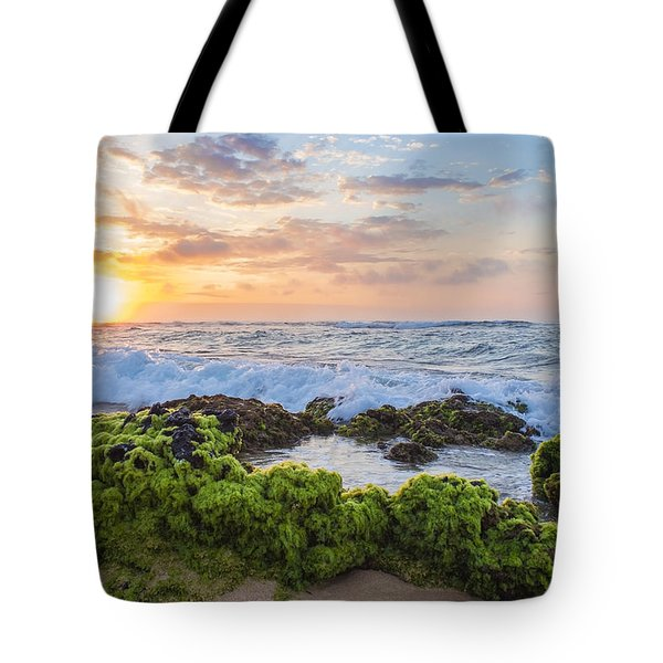 Tote Bag featuring the photograph Sandy Beach Sunrise 2 by Leigh Anne Meeks
