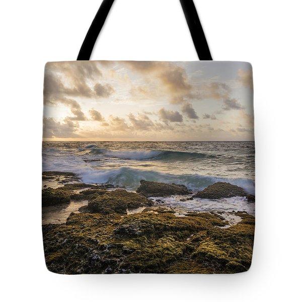 Sandy Beach Sunrise 2 - Oahu Hawaii Tote Bag by Brian Harig