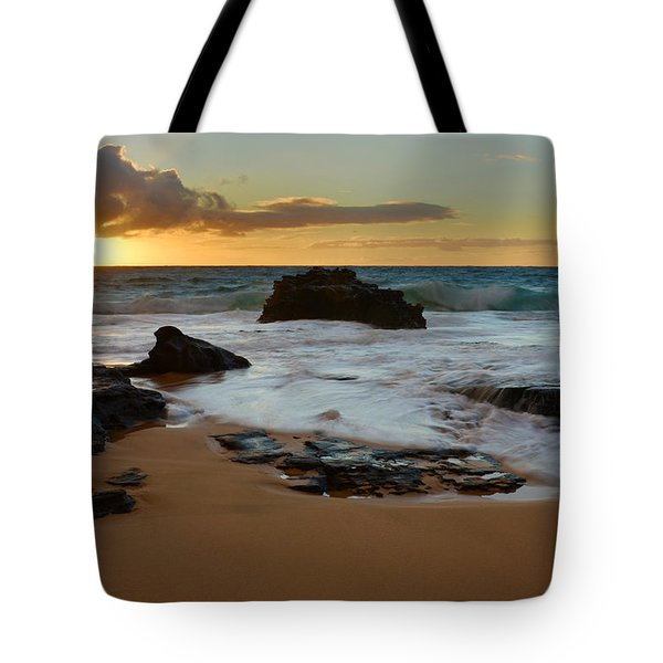 Sandy Beach Sunrise 7 - Oahu Hawaii Tote Bag by Brian Harig