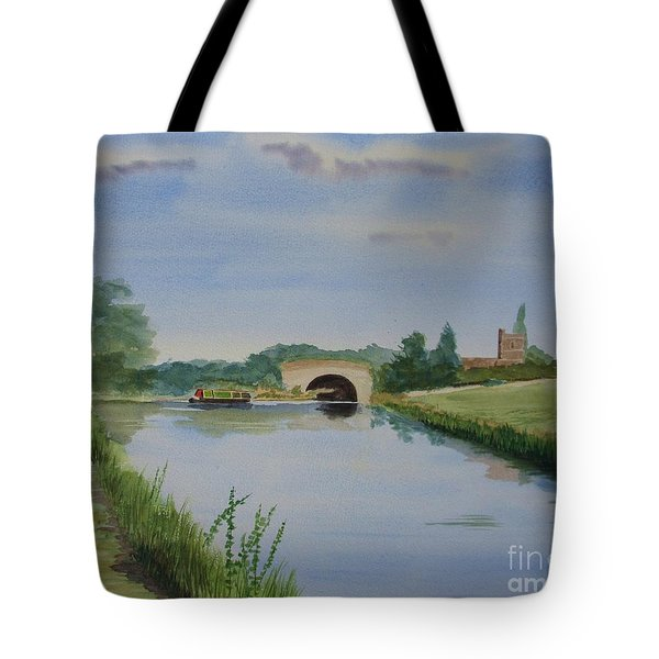 Tote Bag featuring the painting Sandy Bridge by Martin Howard