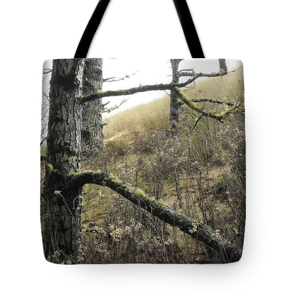 Tote Bag featuring the photograph Sandy Hillside by Adria Trail