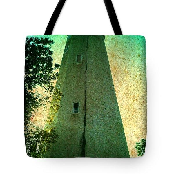 Sandy Hook Lighthouse Tote Bag by Denise Tomasura