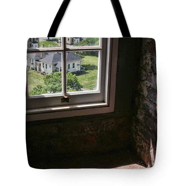 Tote Bag featuring the photograph Sandy Hook View From The Lighthouse by Gary Slawsky