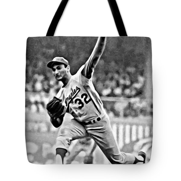 Sandy Koufax Throwing The Ball Tote Bag