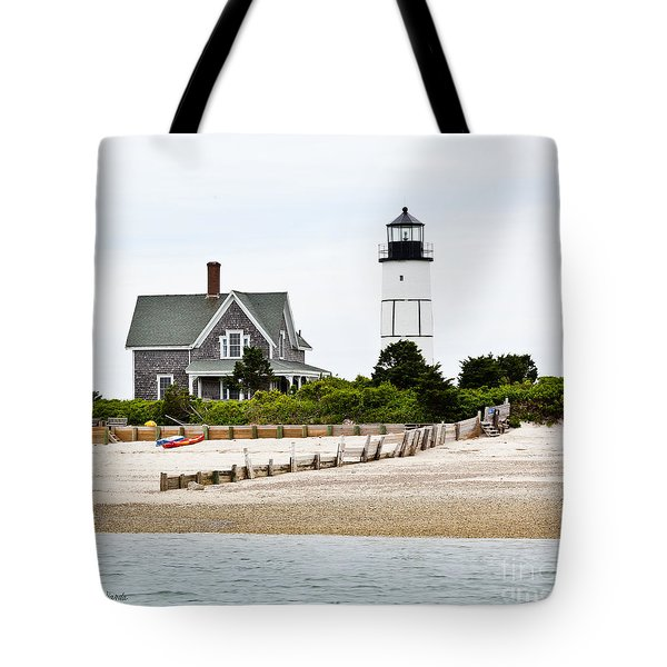 Sandy Neck Lighthouse Cape Cod Tote Bag