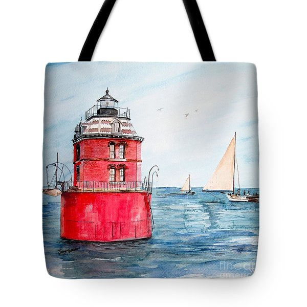 Sandy Point Lighthouse 2 Tote Bag