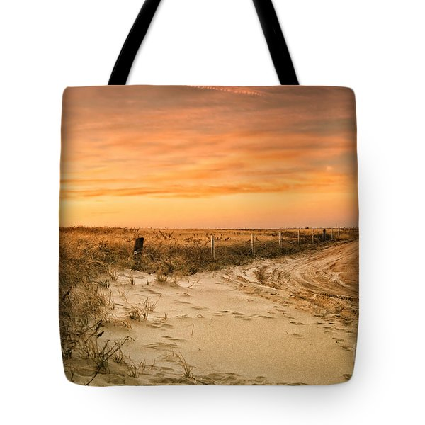 Sandy Road Leading To The Beach Tote Bag