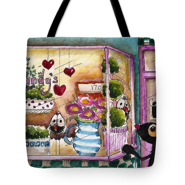 Sandy's Floral Shop Tote Bag by Lucia Stewart