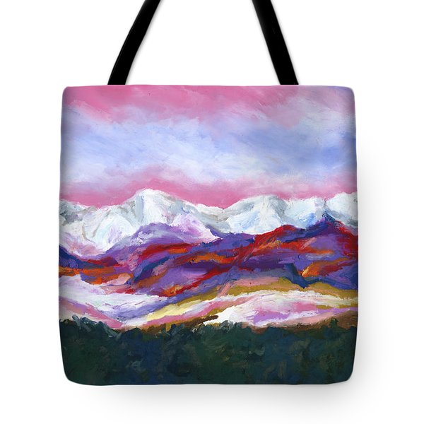 Tote Bag featuring the painting Sangre De Cristo Mountains by Stephen Anderson