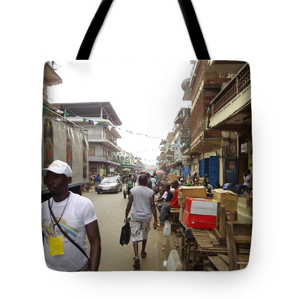 Tote Bag featuring the photograph Sani Abacha Street- Year 2011 by Mudiama Kammoh