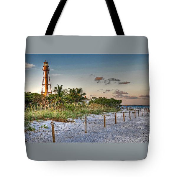 Tote Bag featuring the photograph Sanibel Lighthouse by Geraldine Alexander