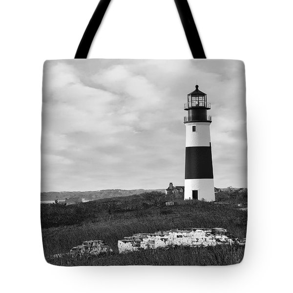 Sankaty Head Lighthouse Nantucket Cape Cod Tote Bag