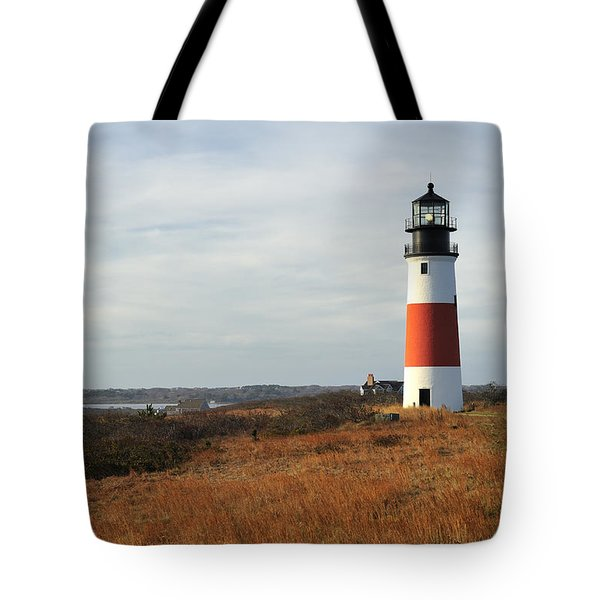 Sankaty Head Lighthouse Nantucket In Autumn Colors Tote Bag