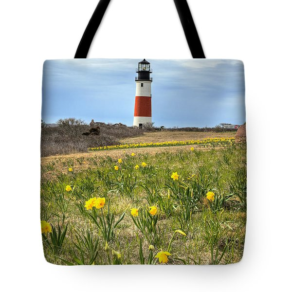 Sankaty Lighthouse Nantucket Tote Bag