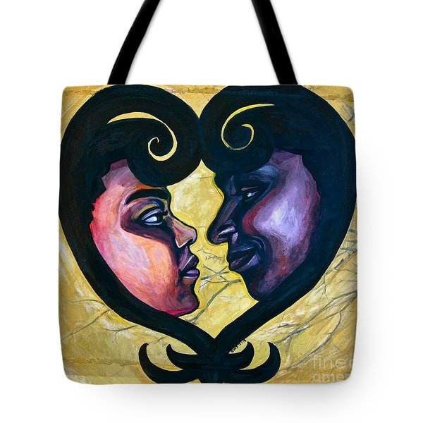 Tote Bag featuring the painting Sankofa Love by Gabrielle Wilson-Sealy