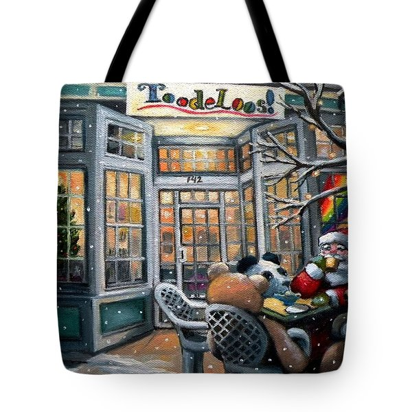 Santa At Toodeloos Toy Store Tote Bag