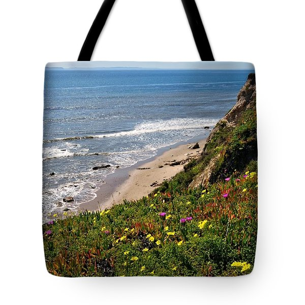 Santa Barbara Beach Beauty Tote Bag
