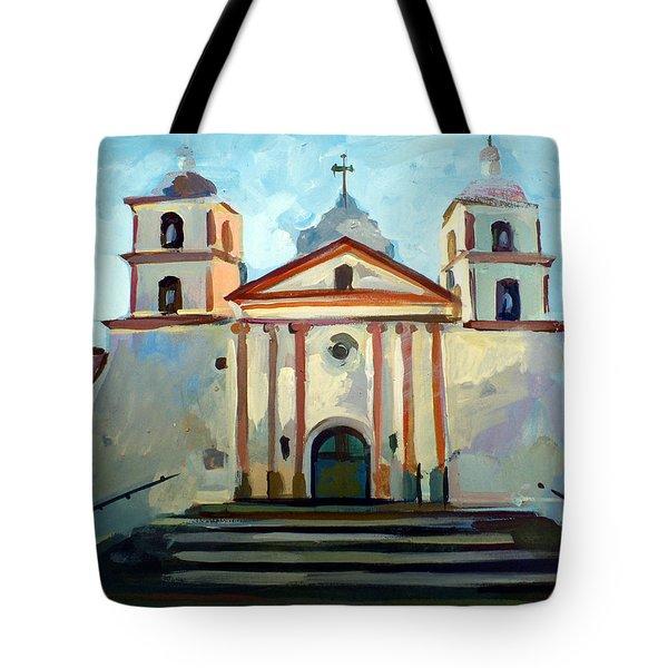 Santa Barbara Mission Tote Bag by Filip Mihail