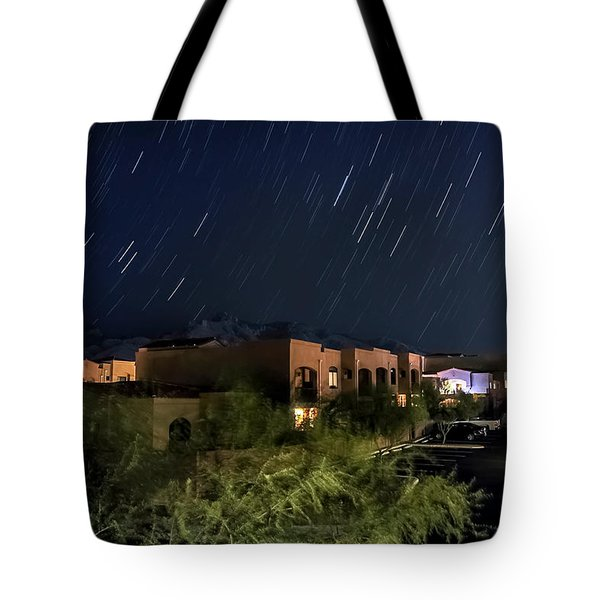Tote Bag featuring the photograph Santa Catalina Mountain Startrails by Dan McManus