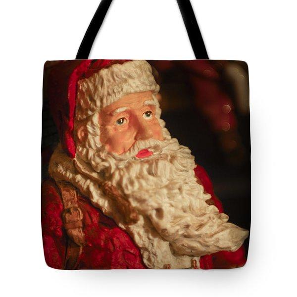 Santa Claus - Antique Ornament - 01 Tote Bag by Jill Reger
