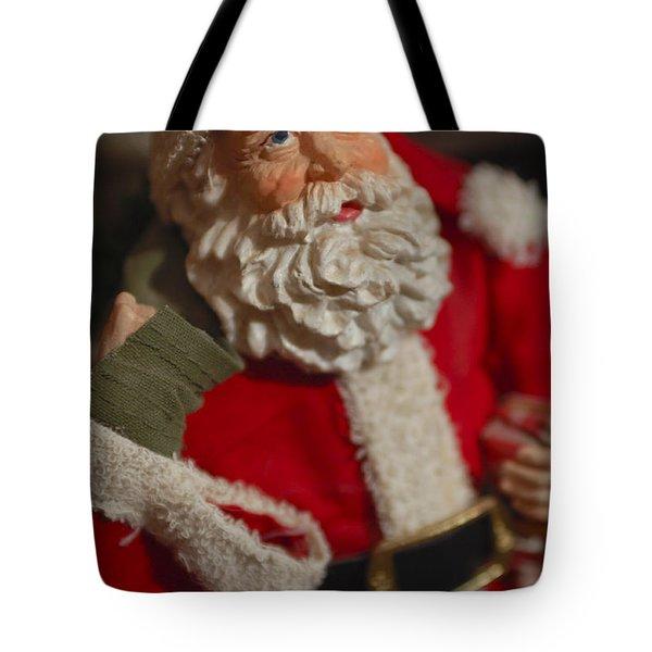Santa Claus - Antique Ornament - 02 Tote Bag by Jill Reger