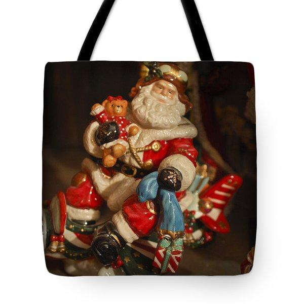 Santa Claus - Antique Ornament -05 Tote Bag by Jill Reger